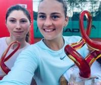 Теннисистка Костюк выиграла первый в карьере профессиональный парный турнир