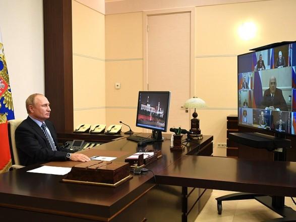 Путин обсудил ситуацию в Беларуси с членами Совбеза РФ ...