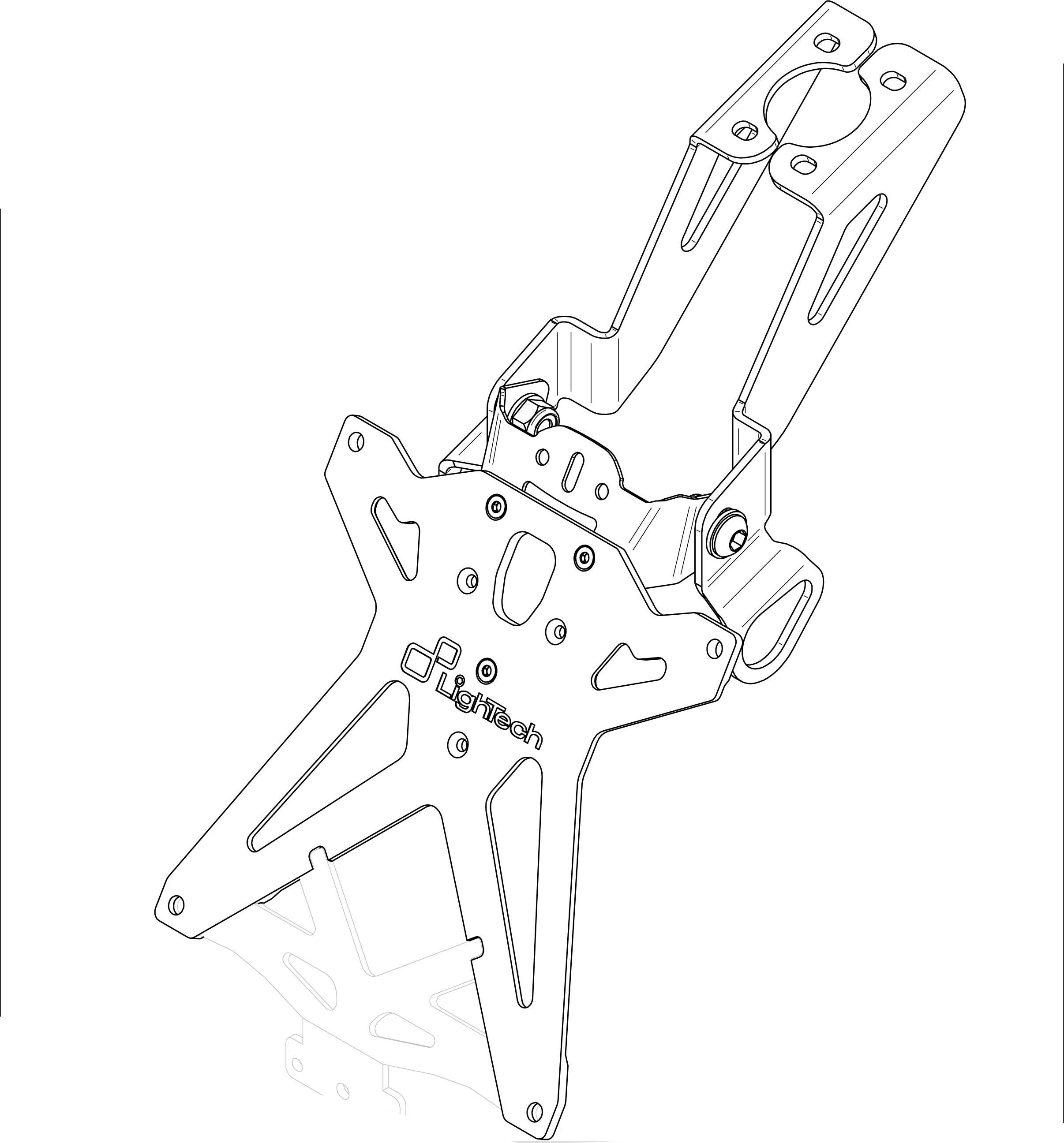 Portamatriculas Lightech Para Yamaha R6 06 15 R1 04 08