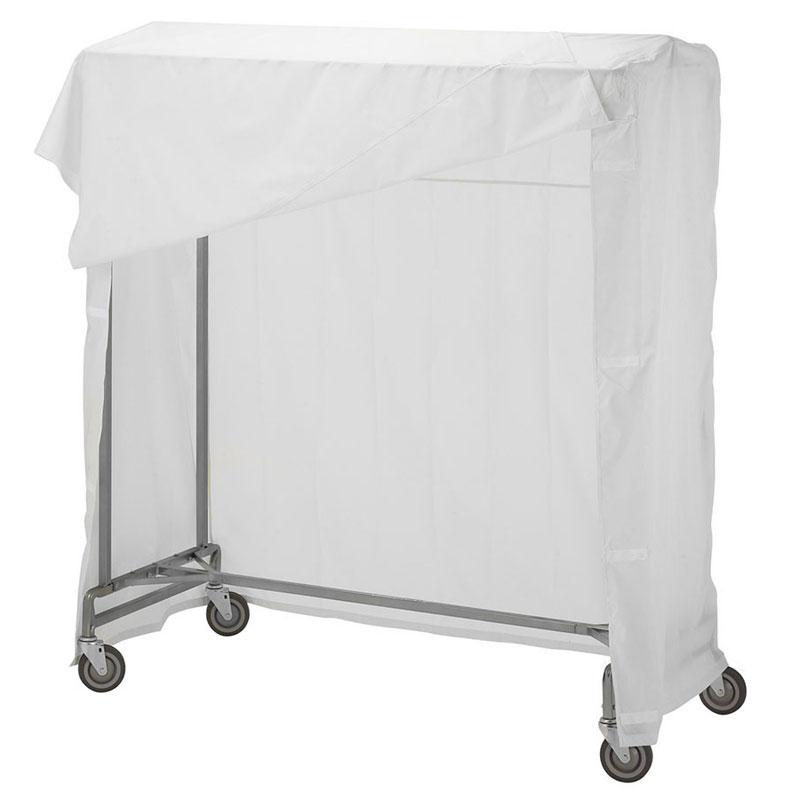 portable single bar garment rack cover kit 60 white
