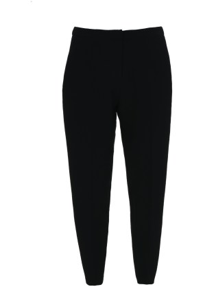 tapered leg black trousers