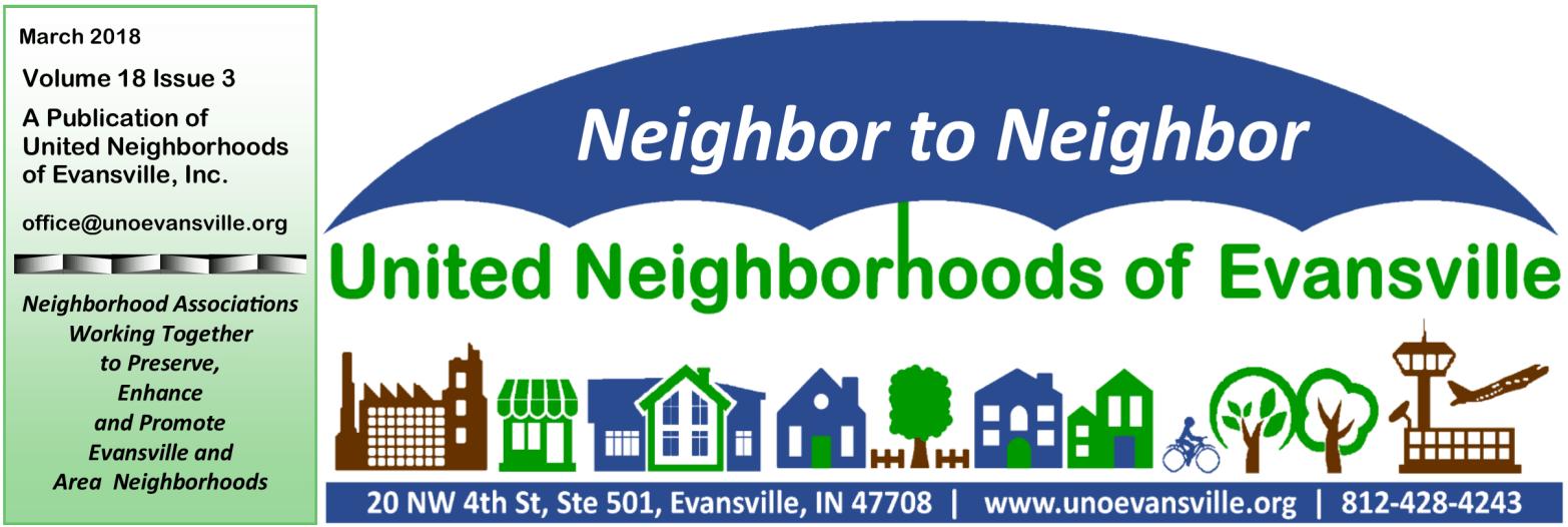 March 2018 United Neighborhoods Of Evansville
