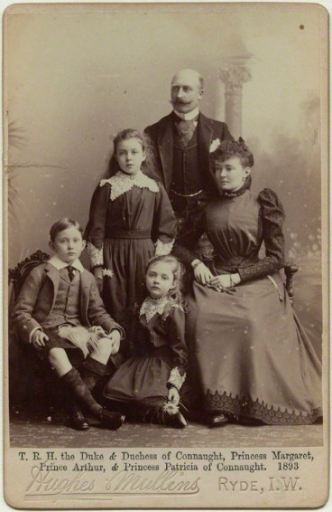 NPG x36196; The Duke and Duchess of Connaught with their children by Hughes & Mullins