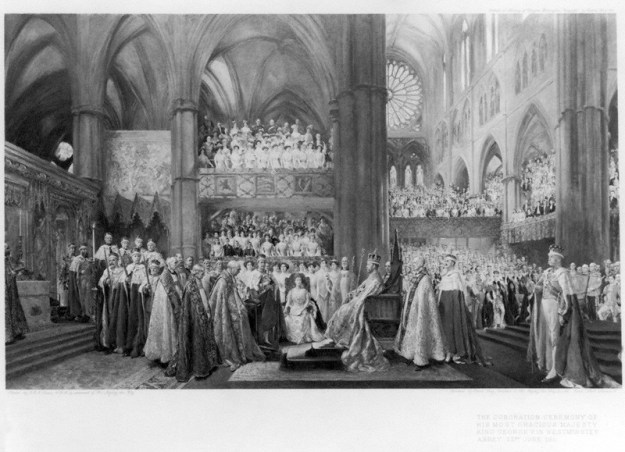 The Coronation Ceremony of His Most Gracious Majesty King George V in Westminster Abbey. 22nd June 1911 © National Portrait Gallery, London (used with permission)
