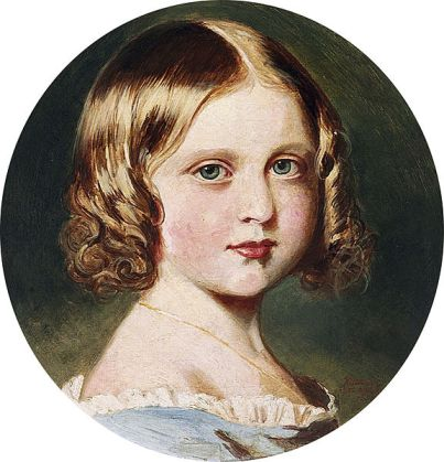 painting of Princess Louise, 1852, by Queen Victoria (copied from an 1851 portrait by Winterhalter) Photo: Wikipedia