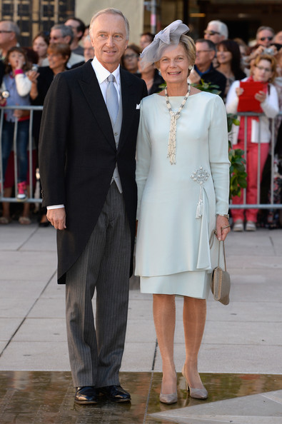 Archduchess Marie-Astrid and Archduke Christian at the 2013 wedding of Prince Felix of Luxembourg. photo: Zimbio