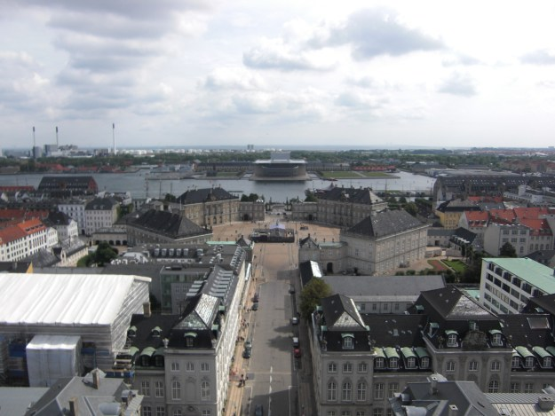 Amalienborg, as seen from the Marble Church. photo: © Susan Flantzer