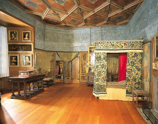 The bedchamber of Mary, Queen of Scots.  source: The Royal Collection
