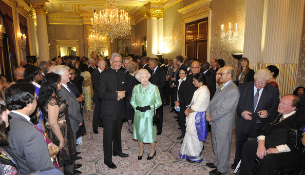 The Queen attends the Commonwealth Day Reception at Marlborough House, 2010. source: Zimbio