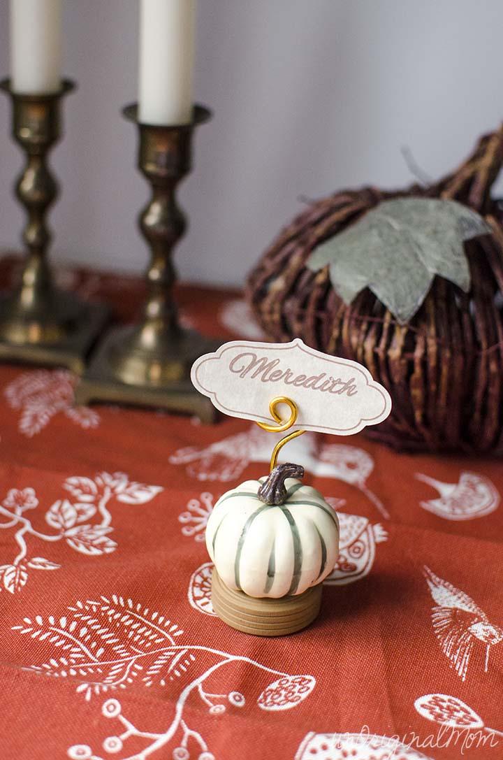 Thanksgiving Place Card Holders UnOriginal Mom