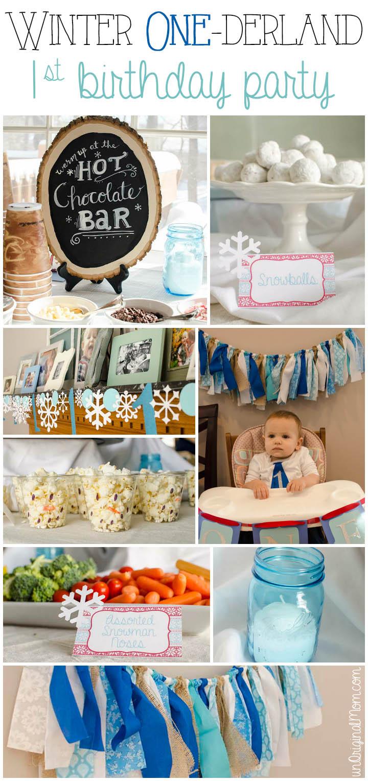 winter onederland first birthday party
