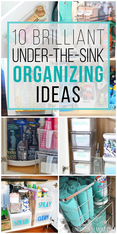 the sink organization ideas
