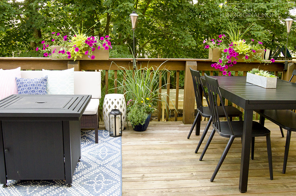 Small Deck Decorating Ideas: Our Deck Tour - unOriginal Mom on Deck Inspiration  id=69930