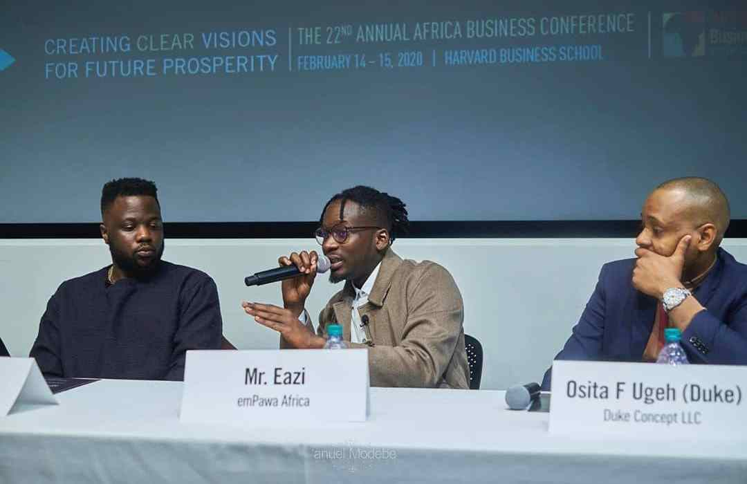 Mr. Eazi Delivers Speech At Harvard Business School