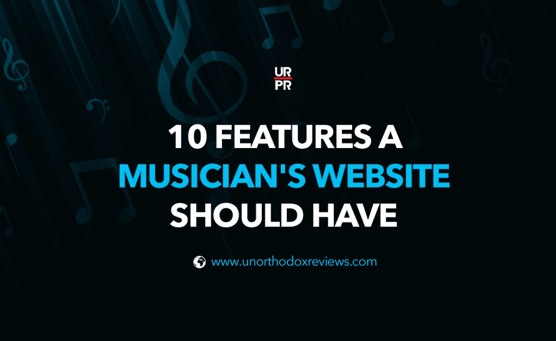 10 Features a Musician's Website Should Have