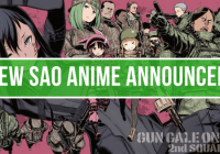 Sword Art Online Alternative Gun Gale Online Anime Announced!