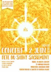 Affiche Concert Saint Sacrement