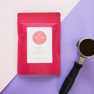 Pink Trunk coffee back with portafilter