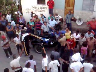 Represión en calle 5ta Santiago de Cuba - 6 de febrero de 2014