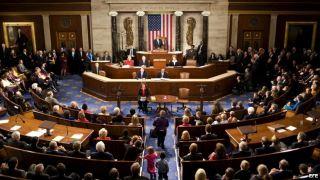 Foto de archivo de la Cámara de Representantes estadounidense, en el Capitolio en Washington DC.