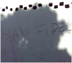 """Graffity de """"AbAJo FIDEL"""""""