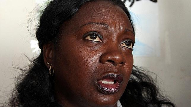 Berta Soler, la mañana en que fue liberada. Foto: EFE