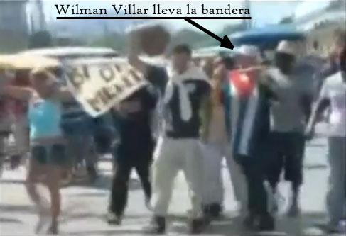 Wilman Villar en Manifestación de la UNPACU en Contramaestre, Cuba