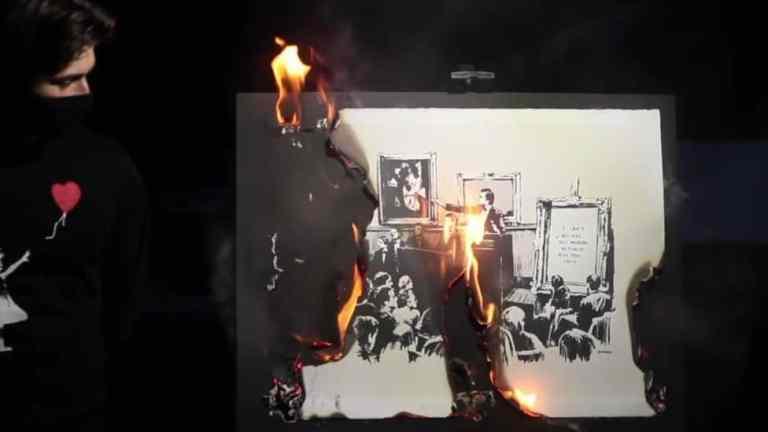 banksy-burned