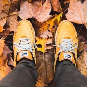 Mes Nike Air Max 1 dans les feuilles d'automne