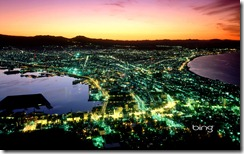 Night view of Hakodate City
