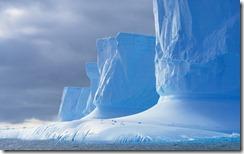 Iceberg shaped by melting, Drake Passage, Palmer Peninsula, Antarctica