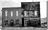Side by side buildings, Bodie, California, U.S. (IR)
