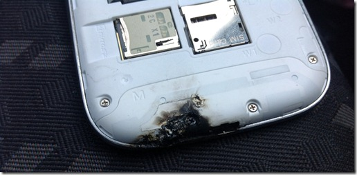 samsung galaxy s3 burned - unpocogeek.com