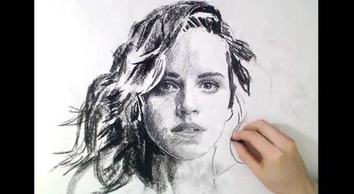 drawing emma watson time lapse - unpocogeek.com