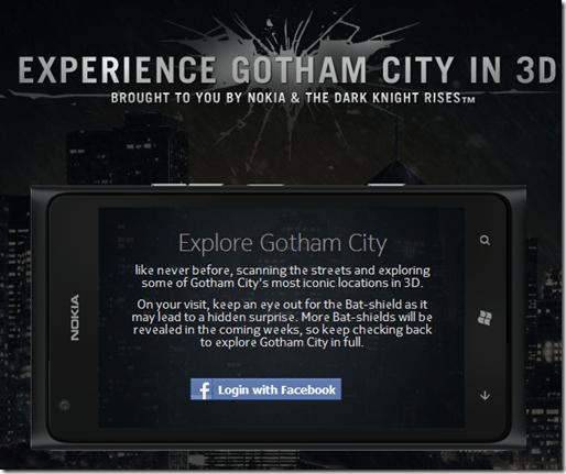 nokia and warner gotham city 3D interactive map - unpocogeek.com