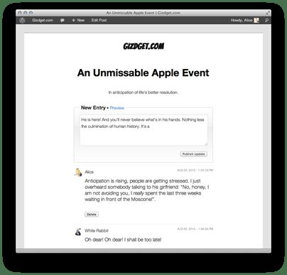 automattic liveblog wordpress plugin - unpocogeek.com