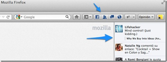 mozilla firefox facebook integration - unpocogeek.com