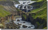Dynkur waterfall and Thjórsá river, Iceland