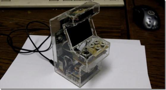 Raspberry Pi-based micro arcade cabinet - unpocogeek.com