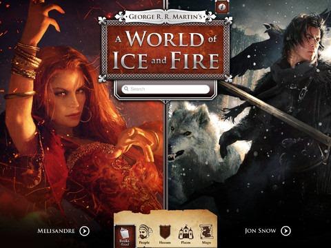 Aplicación de iOS para acompañar la lectura de la saga A Song of Ice and Fire