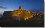 Fort San Felipe del Morro at sunset, Old San Juan, Puerto Rico