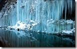 Shirakawa icicles, Japan
