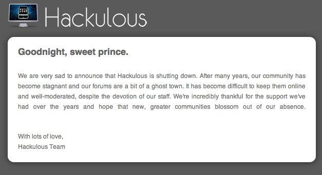 Hackulous se retira del juego de la piratería