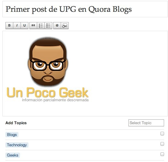 Write Post_ Un Poco Geek - Quora