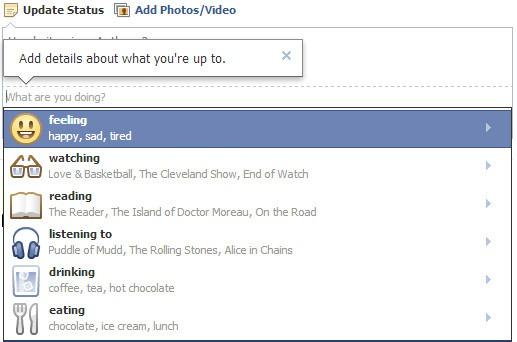 Nuevas mejoras para las actualizaciones de estado de Facebook