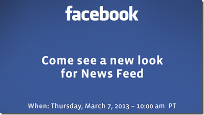 facebook new redesign press invite - unpocogeek.com
