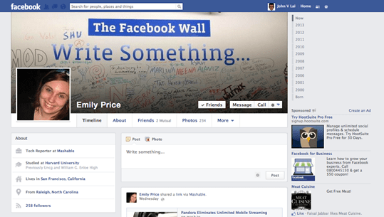 facebook new redesign - unpocogeek.com