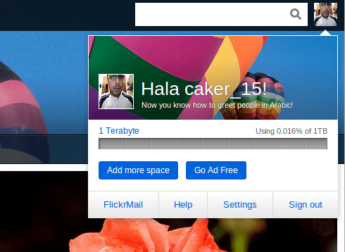 flickr new interface and space - unpocogeek.com