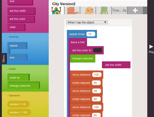 hopscotch programming for kids - unpocogeek.com