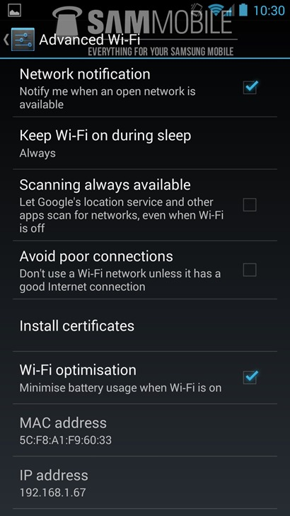 android 4.3 for galaxy s4 leak -wifi- unpocogeek.com